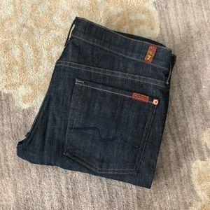 NWOT 7 For All Mankind Roxanne Dark Denim Jeans